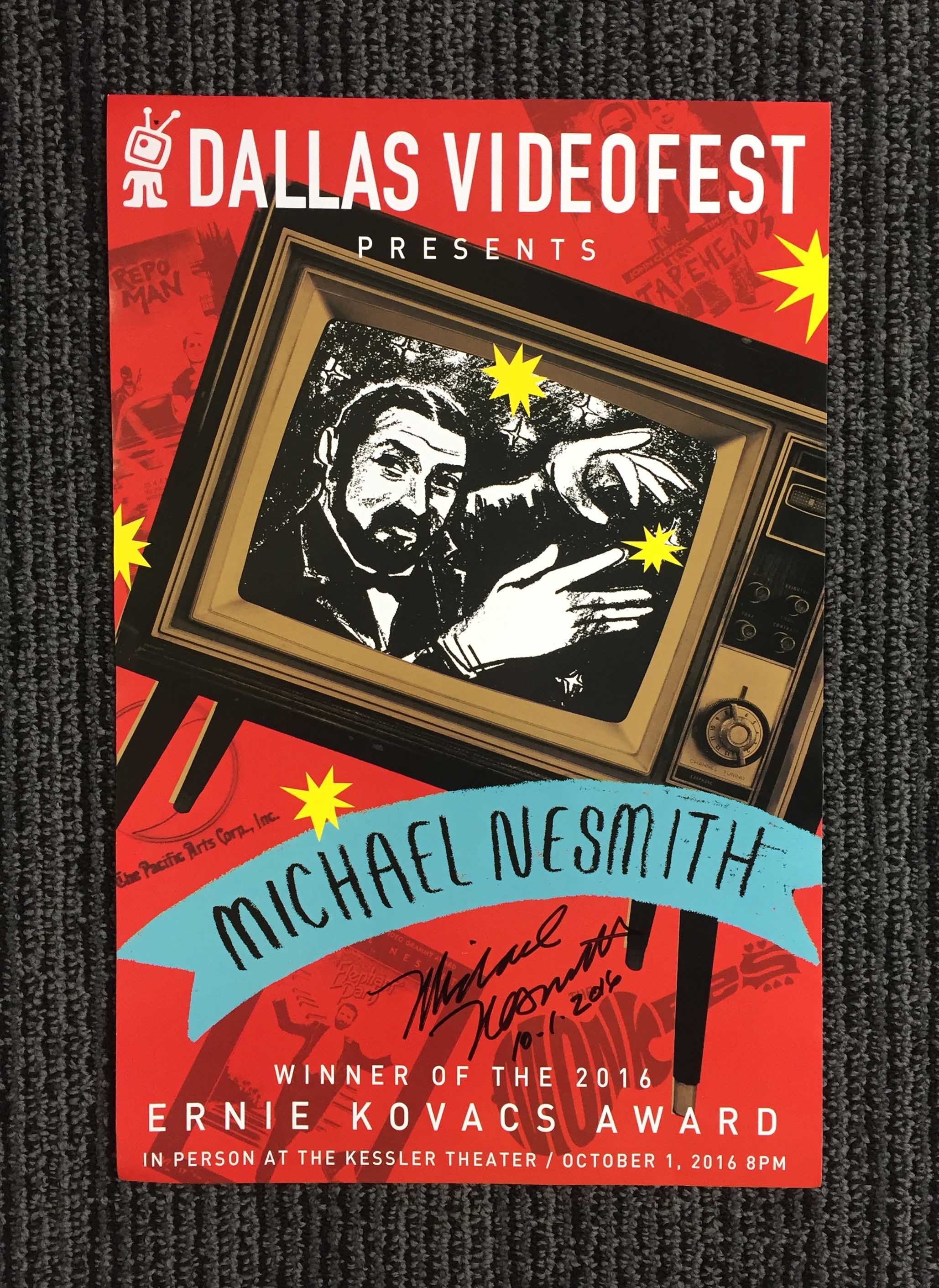 Dallas Videofest   Michael Nesmith   Ernie Kovacs Award